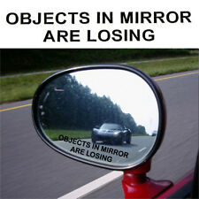 Hot 1 Pair OBJECTS IN MIRROR ARE LOSING Vinyl Decal Rearview Sticker JDM Racing