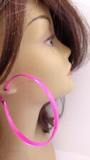 ASSORTED COLOR HOOP EARRINGS LARGE HOOPS 3 INCH HOOP EARRINGS .25 inch thick