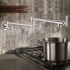 Pot Filler Flexible Chrome Finished Kitchen Swivel Brass cold  Wall Mount Faucet