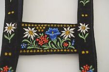 VELVET EDELWEISS EMBROIDERED BRACES FOR A LITTLE GIRL'S DIRNDL RR714