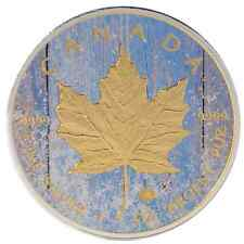 2016 1 Oz Ounce Canadian Silver Maple Leaf Coin .9999 Snow Maple Gold Gilded