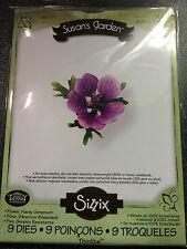 SIZZIX 9 THINLITS DIES GERANIUM FLOWER SUSANS GARDEN LIKE SHEENA FLORALS