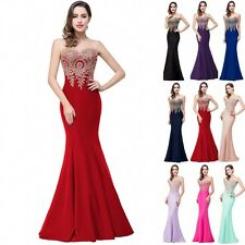 New Formal Wedding Bridesmaid Long Evening Party Ball Prom Gown Cocktail Dress