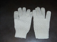 paire   gants femme - point tricot - blancs -