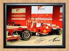 Ferrari Team Felipe Fernando Signed Autographed A4 Photo Print Formula One F1