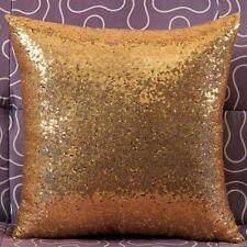 2016 Home Decor Glitter Sequins Solid Color Throw Pillow Case Cafe Cushion Cover