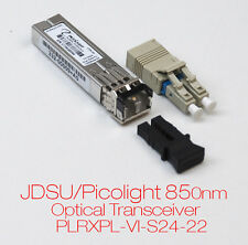 JDSU/PICOLIGHT 850nm OPTICAL TRANSCEIVER PLRXPL-VI-S24-22 332-00009+ 1/2 GBPS
