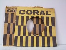 2-CORAL RECORD COMPANY 45's SLEEVES  LOT # A-382
