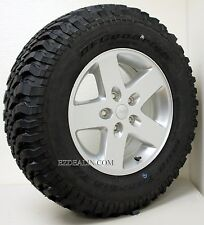 New Take Off Set of 5 Jeep Wrangler Sahara Rubicon Wheels W/ BFG 255/75/17 Tires