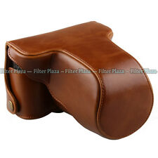 Leather Case Bag Cover For FujiFilm Fuji XM1 X-M1 XM-1 Camera Brown