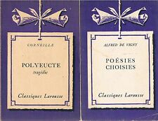 LAROUSSE : CORNEILLE Polyeucte + DE VIGNY Poésies choisies + PARIS POSTER GUIDE