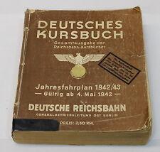 Deutsches Kursbuch Reichsbahn Gesamtausgebe 1942 / 1943