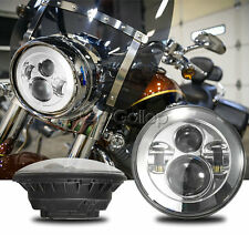 7'' Chrome Round Projector Daymaker HID Hi/Lo LED Headlight For Harley Touring