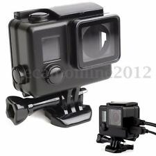Custodia Porta USB Side Open Housing Case Cover Per GoPro Hero 3+ 4 Nero