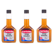 3 x CARLUBE STOP EXHAUST SMOKE OIL TREATMENT ADDITIVE 300ml PETROL DIESEL ENGINE