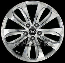 "Set of 4 fits 11 12 13 Hyundai Sonata 18"" CHROME Wheel Skins Hub Caps Rim Covers"
