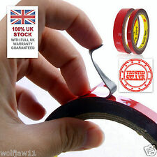 UK STOCK [5x] 3M™ 10mm/3m Auto Car Acrylic Double Sided Attachment Adhesive Tape