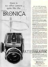 Zenza Bronica Deluxe Camera AD, 1959: Original Vintage Advertisement