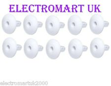 10 X SINGLE GROMMETS TV COAX COAXIAL CABLE TIDY WALL BUSHES ENTRY EXIT WHITE