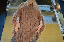 Sirdar Knitting Pattern 8473 Bigga Cabled Poncho one size