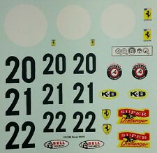 Repro 1/24 K&B Ferrari 330 P2 Decal Set