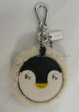 NWT! Coach Key Ring 64753 Furry Penguin  Great Gift or Accessory for your bag.