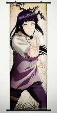 Wall Scroll Poster Fabric Painting Anime Naruto Hyuuga Hinata 49.2X17.7 inches