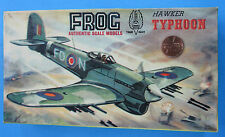MODEL KIT '60s vtg Frog HAWKER TYPHOON 1:72 Scale Plastic Stand Included!