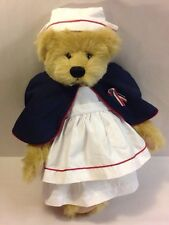 "Ashton Drake Gallery 16"" Jointed Teddy Bear Nurse Tan Vicky Lougher Plush Doll"