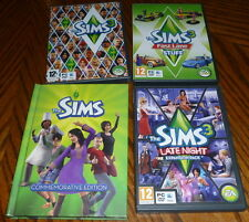 The Sims 3 game plus fast lane - late night - commemorative ed Expansions pc/mac