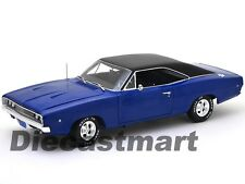 "1968 DODGE CHARGER BLUE ""CHRISTINE"" MOVIE 1:18 DIECAST MODEL AUTOWORLD AWSS111"