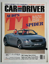 CAR & DRIVER Magazine VINTAGE AUTOMOBILE 1996  APRIL AUDI TT S FERRARI GTO VIPER