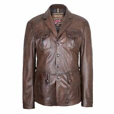 Matchless Brown Burnished Leather Silverstone Blazer Jacket Medium RRP £1,200