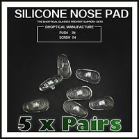 5 Pairs Flexible Silicone Nose pads for glasses Eyeglasses Sunglasses