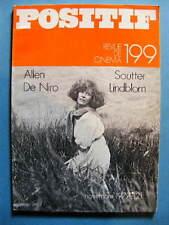 Cinéma revue Positif 199 1977 Woody Allen Robert de Niro Michel Soutter Lindblom