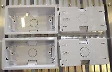 4 x TWIN DRY LINING BOX PATTRESS for DOUBLE SOCKET 13 AMP OR 4 GANG LIGHT SWITCH