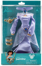 Disney Store parks Jasmine Costume purple dress clothes fashion Aladdin doll