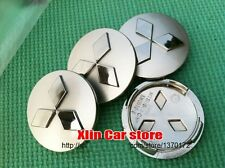 4pcs 60mm Mitsubishi car emblem Wheel Center Hub Caps for Outlander 3.0 Lancer