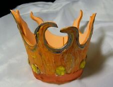 CROWN HAT for Small Dog Cat king queen princess prince ORANGE FLAMES JEWELS