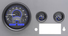 Dakota Digital 55 - 86 Jeep CJ Analog Dash Gauges System Carbon Blue VHX-55J-C-B