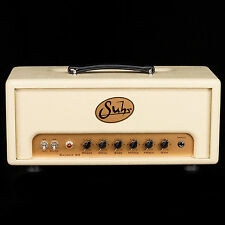 NEW SUHR BADGER 30 WATT ALL TUBE AMPLIFIER HEAD IN CREME - BRITISH PLEXI TONE