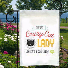 Crazy Cat Lady New Small Garden Flag Home Decor Gifts Events