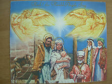 VINTAGE 1950's CHRISTMAS CARD HARK THE HERALD ANGELS SING