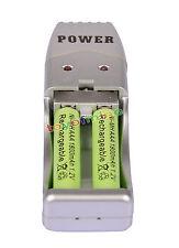 2X Batería recargable AAA 3A 1800mAh 1.2V NiMH verde color + USB Cargador