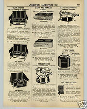 1942 PAPER AD Coleman Camp Stove Table Size Gas Gasoline Speedmaster Burner