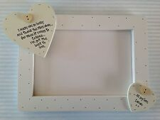 Shabby personalised Chic Special Goddaughter Or Godson Christening Photo Frame