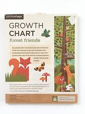 Growth Chart Forest Friends Woodland Themed Fox Deer Owl NEW Petit Collage
