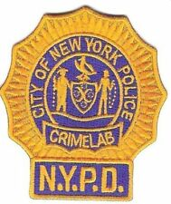Police de New York NYPD obsolete NYPD crime lab detective patch