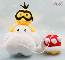 New 14inch Lakitu Spiny Cloud of Super Mario Bros. Plush Doll Kids Gifts LH