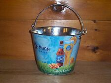 """BLUE MOON """"ARTFULLY CRAFTED"""" METAL BEER ICE BUCKET COOLER NEW"""